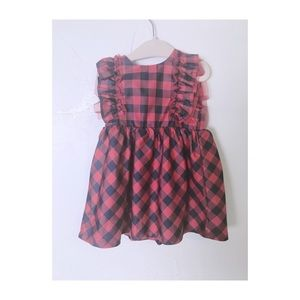 Gap baby plaid dress Size 12 Months